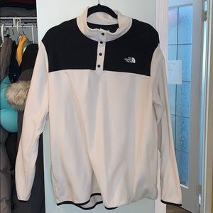 The north face button up sweater